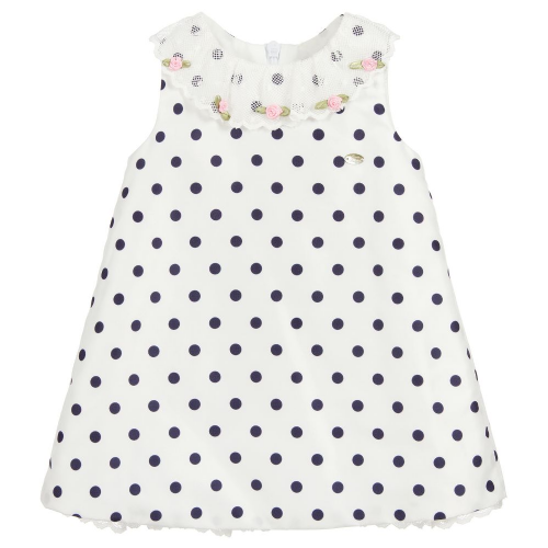 Piccola Speranza Girls Polka Dot Dress With Jam Pants